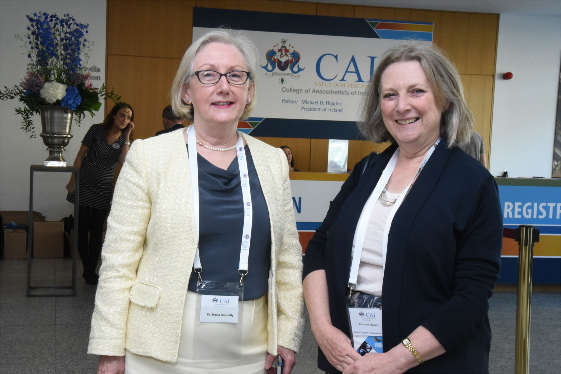 College of Anaesthetists of Ireland Annual Congress 2018 - Dr Maria Donnelly, Dr Jeanne Moriarty, Dean of the Joint Faculty of Intensive Care Medicine of Ireland