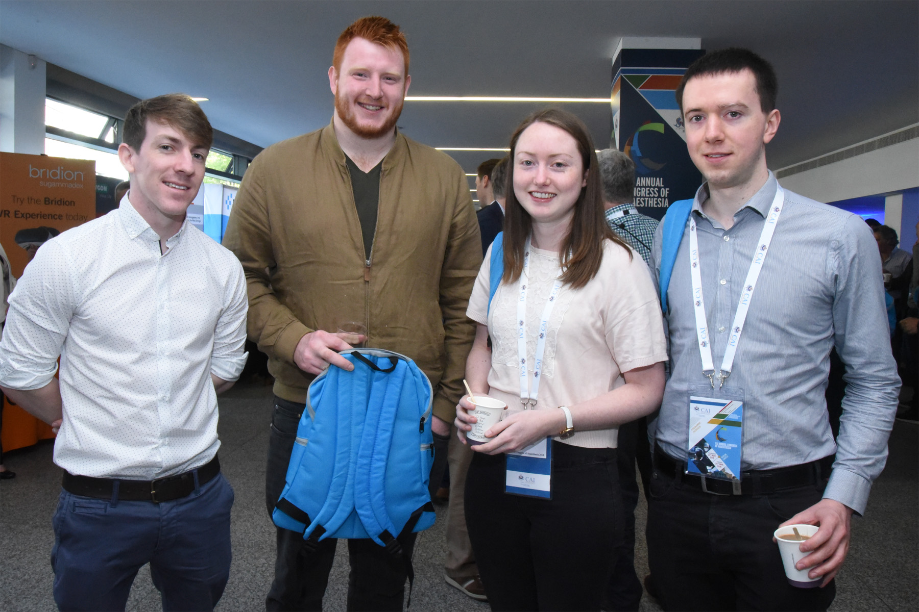 College of Anaesthetists of Ireland Annual Congress 2018 - Final year medical students at UCD, Sean Griffin, Diarmaid Hickey, Sinead Ryan and Daniel Ferry