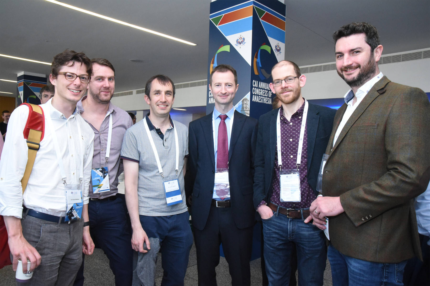 College of Anaesthetists of Ireland Annual Congress 2018 - Dr Eoin Kelleher, Dr James Freeman, Dr David Cosgrave, Dr Thomas Wall, Dr Raymund O'Connor and Dr Enda Shanahan