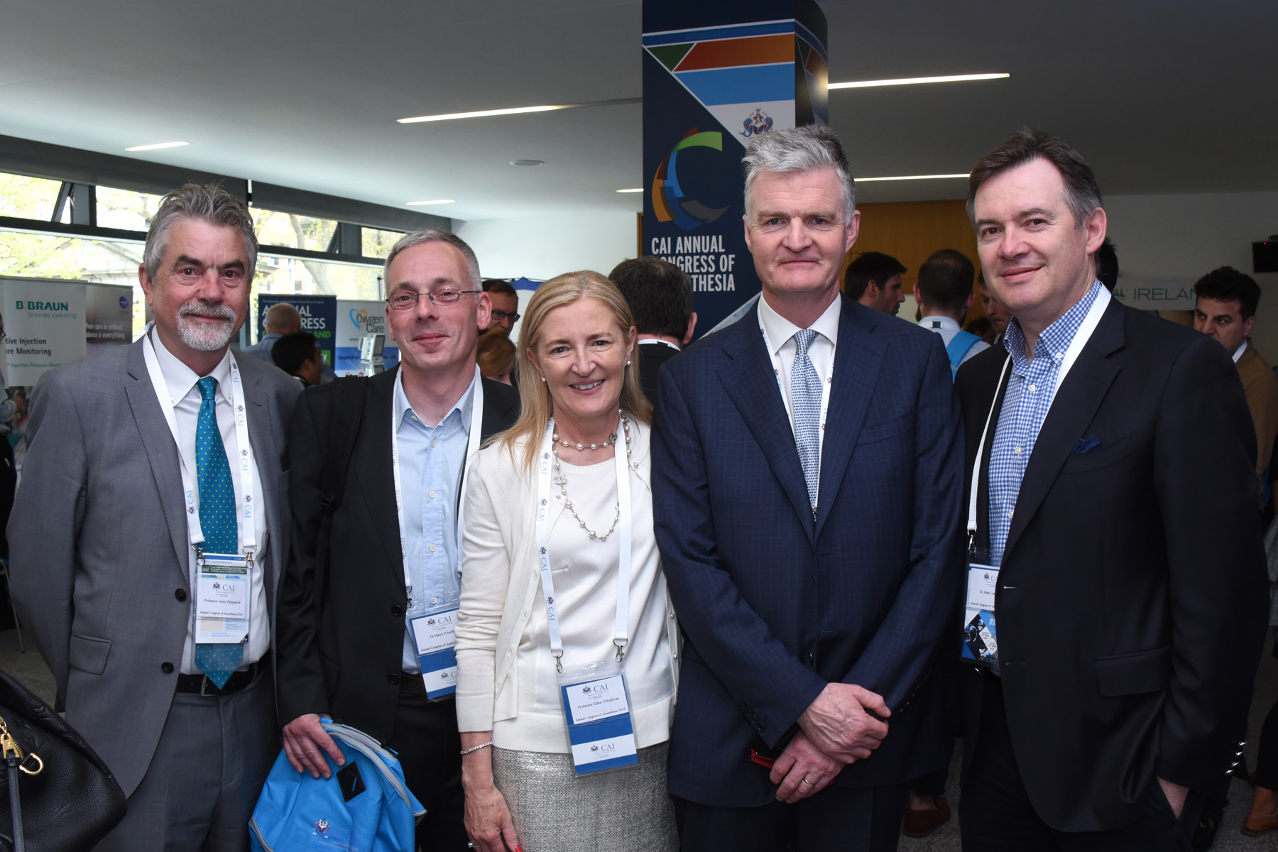 College of Anaesthetists of Ireland Annual Congress 2018 - Prof Gerry Fitzpatrick, Dr Harry Frizelle, Prof Ellen O'Sullivan, Prof Brian Kinirons, Dr John Loughrey